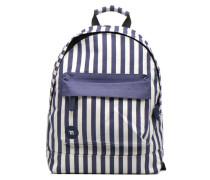 Premium Seaside Stripe Backpack Rucksäcke für Taschen in blau