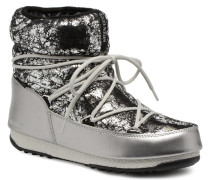 We low crackled Sportschuhe in silber