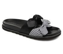 Vichy black Clogs & Pantoletten in schwarz