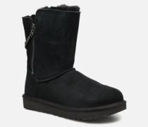 W Classic Short Sparkle Zip Stiefel in schwarz