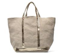 Cabas Lin paillettes M+ Handtasche in beige