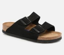 Arizona Cuir Suede Soft Footbed W Clogs & Pantoletten in schwarz