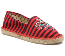 Poshpadrille rayure Espadrilles in rot