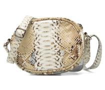 Micro Sac Serpent Handtasche in beige