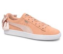 Basket Bow Satin Sneaker in orange