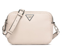 Sawyer Crossbody Top Zip Handtasche in beige