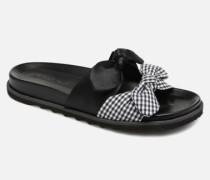 Vichy black Clogs & Pantoletten in schwarz