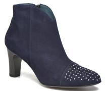 IFLOU #Ch Velours OCEAN ~Doubl & 1ere CUIR Stiefeletten Boots in blau