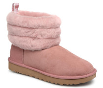 Fluff Mini Quilted Stiefeletten & Boots in rosa
