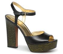 Bennet Platform Sandalen in schwarz