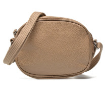 Micro Sac Grainé Handtasche in beige