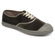 Tennis Velvet Piping Sneaker in grau