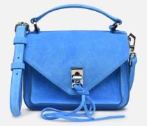 Mini Darren Fluo Suede Handtasche in blau