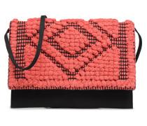 POCHETTE RAPHIA Handtasche in rosa