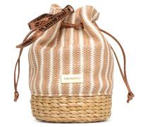 Seau rayé Handtasche in beige