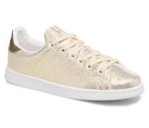 Deportivo Tejido Fantasia Sneaker in goldinbronze