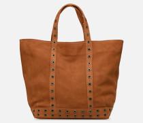 Cabas M Nubuck Handtasche in braun