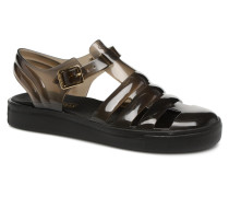 Crystal 01 Sandalen in schwarz
