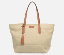 Shopper Toile Handtasche in beige