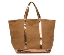 Cabas Lin paillettes M+ Handtasche in braun