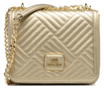 Crossbody Chaine Shiny Quilted Handtasche in goldinbronze