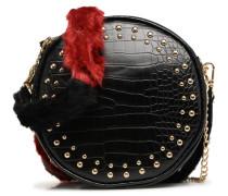 Crossbody rond chaine Handtasche in schwarz