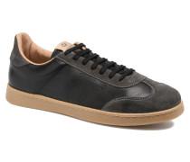 Deportivo Ciclista Piel Sneaker in schwarz