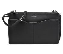 Pochette double zippée Valentine Handtasche in schwarz