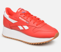 Classic Leather Double Sneaker in rot