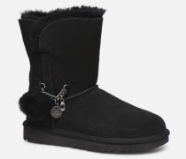 Classic Short Charms Stiefel in schwarz