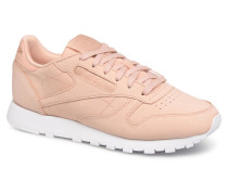 Classic Leather Nude Nubuck Sneaker in rosa