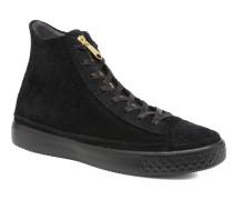 Chuck Taylor All Star Modern Coated Suede Zip Hi Sneaker in schwarz