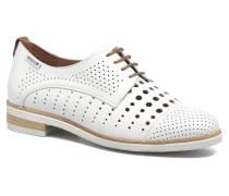 Pearl perf Schnürschuhe in weiß