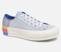 Chuck Taylor All Star Lift Rainbow Ox Sneaker in blau