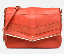 FRANCES LEATHER LARGE CROSSBODY Handtasche in rosa