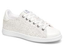 Deportivo Plateform Glitter Sneaker in silber