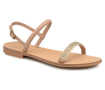 MIYA LEATHER SANDAL Sandalen in beige