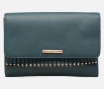 Fringe Stud Clutch Mini Bag in blau