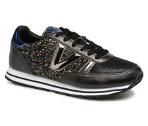Deportivo Ciclista Glitter Sneaker in schwarz