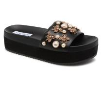 Adorn Platform Slide Clogs & Pantoletten in schwarz