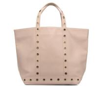 Cabas cuir œillets M Handtasche in beige