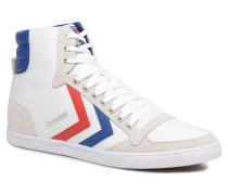 Slimmer Stadil High canvas Sneaker in weiß