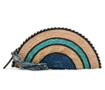 Straw Taco Clutch Mini Bag in blau