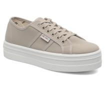 Blucher Lona Plataforma Sneaker in beige