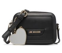 Crossbody Detachable Heart Handtasche in schwarz