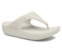 Sloane Embellished Flip Clogs & Pantoletten in grau