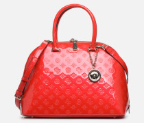 PEONY SHINE LARGE DOME SATCHEL Handtasche in rot