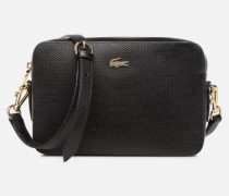 CHANTACO CUIR SQUARE CROSSOVER BAG Handtasche in schwarz