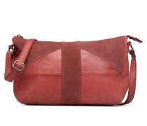 Felicia Leather L Crossbody Handtasche in weinrot