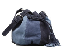 KESHA Suede leather bag Handtasche in blau